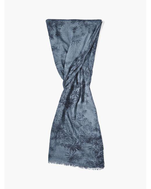 John Varvatos - Blue Woven Floral Scarf for Men - Lyst