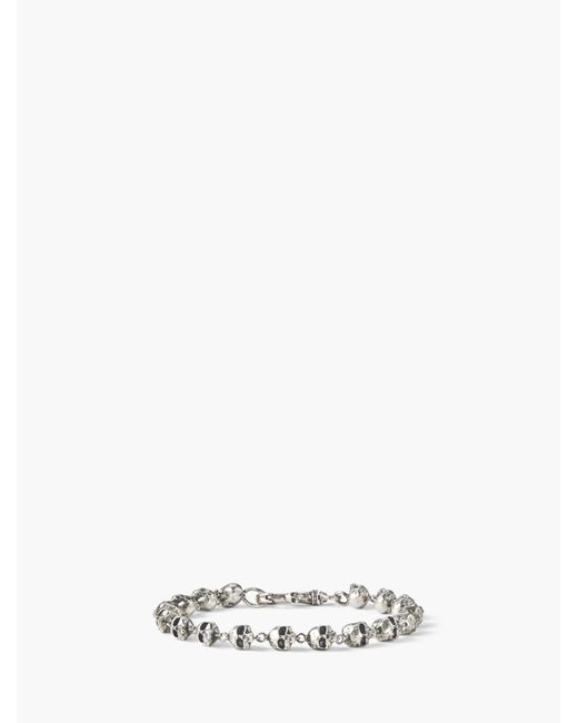 John Varvatos - Metallic Silver Skull Bracelet for Men - Lyst