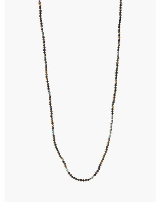 John Varvatos | Metallic Mini Gemstone Necklace for Men | Lyst