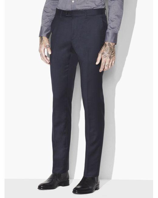 John Varvatos - Blue Austin Textured Pants for Men - Lyst