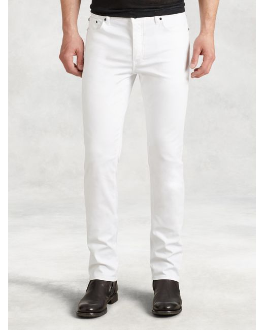 John Varvatos | White Woodward Cotton Canvas Jean for Men | Lyst