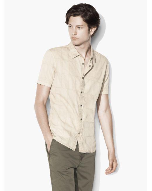 John Varvatos | Natural Safari Snap Front Shirt for Men | Lyst