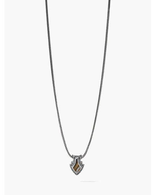 John Varvatos - Metallic Pike Necklace for Men - Lyst
