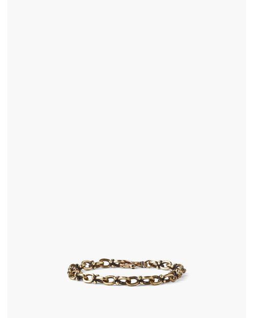 John Varvatos - Metallic Brass Chain Bracelet for Men - Lyst