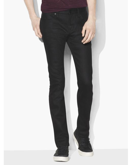 John Varvatos - Black Bowery Coated Cotton Stretch Jean for Men - Lyst