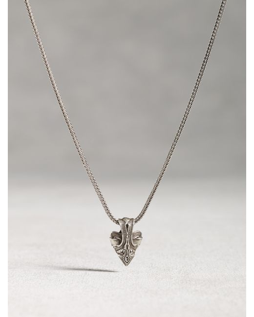 John Varvatos | Metallic Sterling Silver Arrow Pendant for Men | Lyst