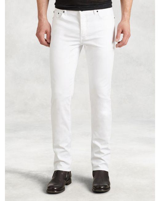 John Varvatos - White Woodward Cotton Canvas Jean for Men - Lyst