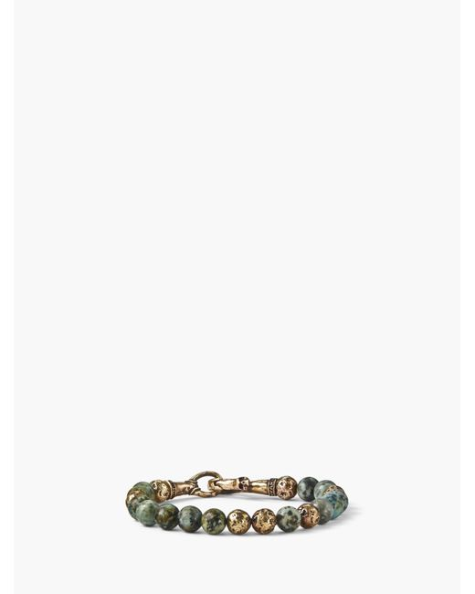 John Varvatos - Metallic 8mm Brass Distressed Balls With 8mm Color Beads Br for Men - Lyst