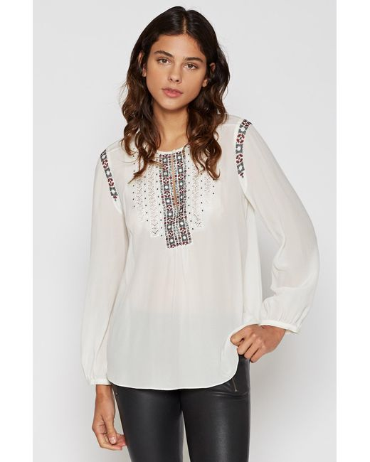 Joie | White Clema Embroidered Top | Lyst