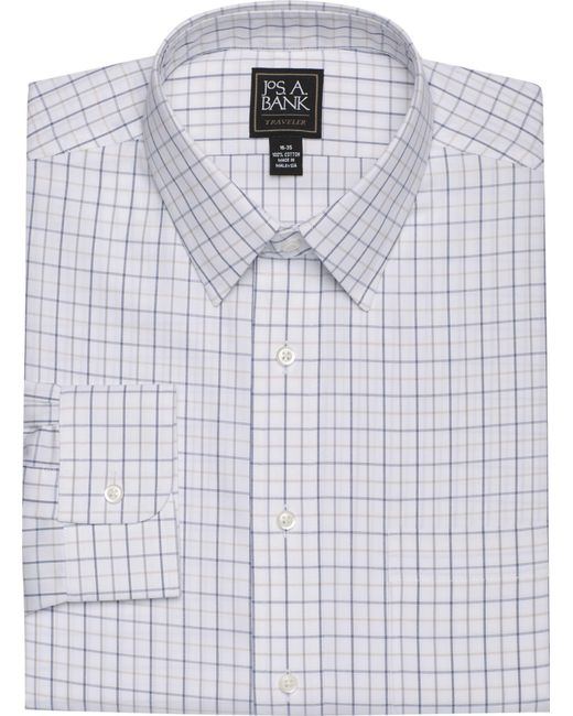 Jos. A. Bank | Blue Traveler Collection Traditional Fit Spread Collar Herringbone Weave Dress Shirt for Men | Lyst