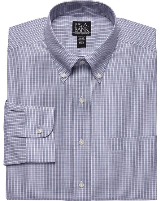 Jos a bank traveller tailored fit button down dress for Joseph banks dress shirts