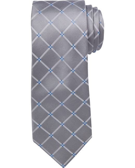 Jos. A. Bank | Gray Executive Collection Large Grid Tie for Men | Lyst