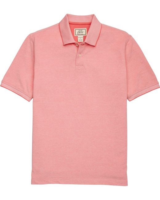 Jos. A. Bank - Pink 1905 Collection Tailored Fit Pique Polo Shirt Clearance for Men - Lyst