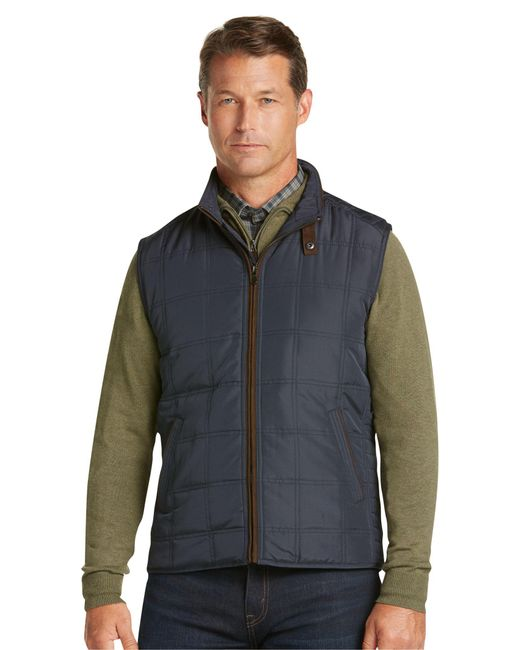 Jos. A. Bank - Blue Monroe Traditional Fit Quilted Vest - Big & Tall for Men - Lyst