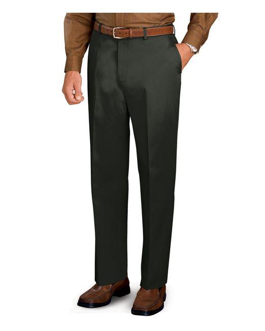 Jos a bank traveler tailored fit flat front twill pants for Jos a bank tailored fit vs slim fit shirts