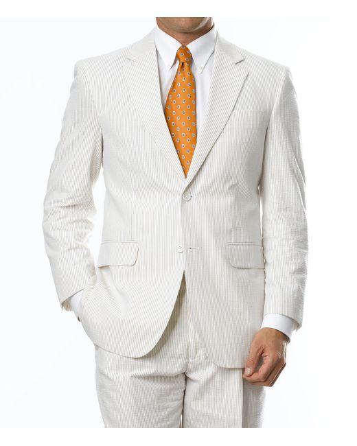 Jos a bank stays cool 2 button seersucker tailored fit for Jos a bank slim fit vs tailored fit shirts