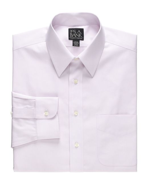 Jos a bank traveler collection tailored fit point collar for Joseph banks dress shirts