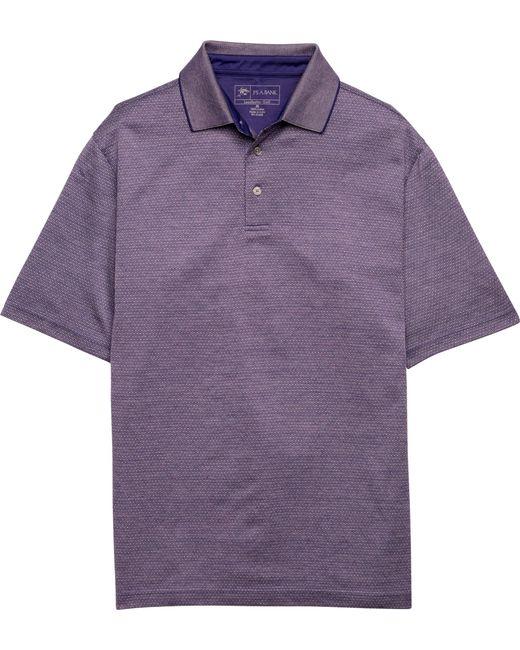 Jos a bank david leadbetter short sleeve polo shirt big for Big and tall purple dress shirts