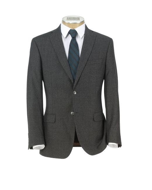Jos a bank joseph slim fit 2 button wool cashmere plain for Jos a bank slim fit vs tailored fit shirts