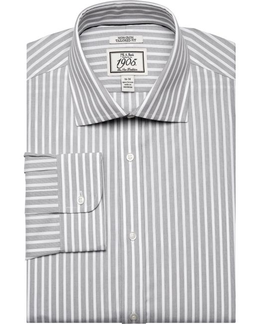 Jos a bank 1905 collection tailored fit cutaway collar for Mens wide collar dress shirts