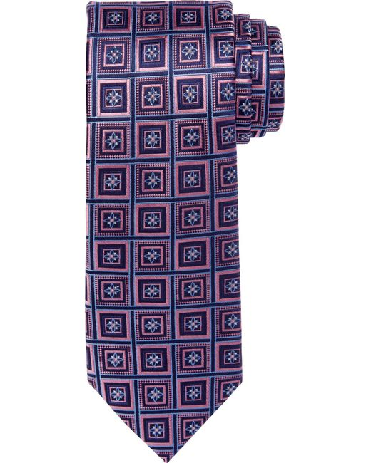 Jos. A. Bank | Pink Reserve Collection Medallion Geo Grid Tie for Men | Lyst
