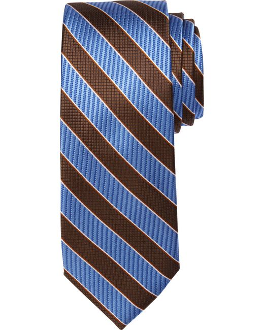 Jos. A. Bank - Blue Signature Collection Textured Stripe Tie Clearance for Men - Lyst