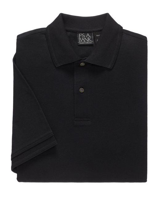 Jos. A. Bank - Black Traveler Short Sleeve Tailored Fit Interlock Polo for Men - Lyst
