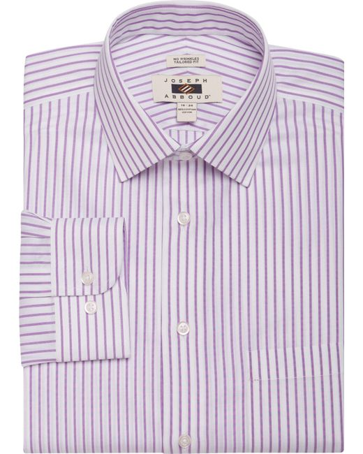 Jos a bank joseph abboud tailored fit spread collar for Mens wide collar dress shirts