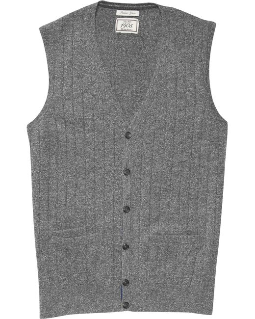 Jos a bank 1905 collection ribbed knit jumper vest in for Jos a bank tailored fit vs slim fit shirts