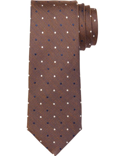 Jos. A. Bank | Brown Joseph Abboud Dot Tie for Men | Lyst