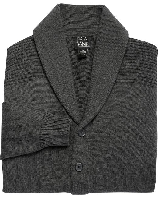 Jos. A. Bank | Gray Executive Collection Cotton Cardigan Sweater Clearance for Men | Lyst