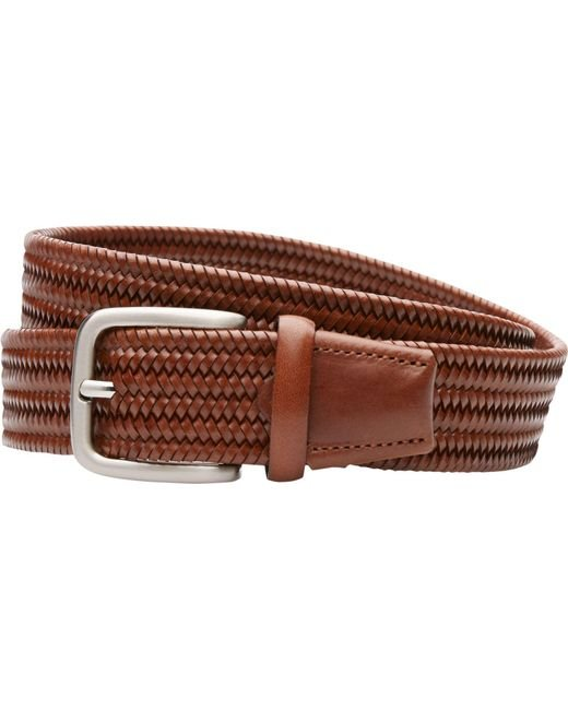 Jos. A. Bank | Brown Braided Leather Belt for Men | Lyst