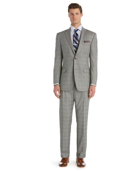 Lyst - Jos. A. Bank Signature Gold Traditional Fit 2-button Wool Suit With Pleat Front Trousers ...