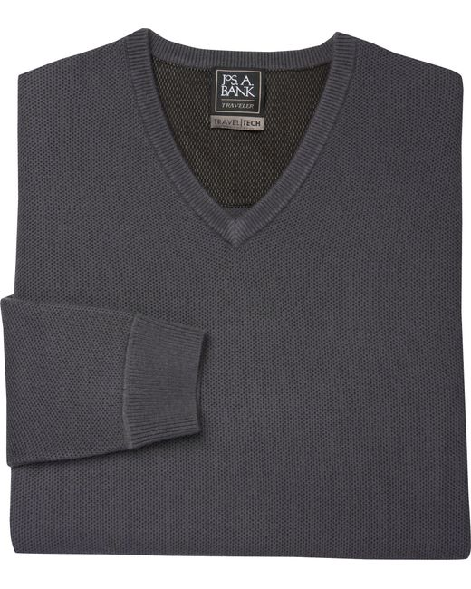Lyst jos a bank travel tech collection v neck merino for Merino wool shirts for travel