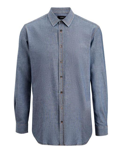 Joseph - Blue Jacques Chambray Indigo Shirt for Men - Lyst