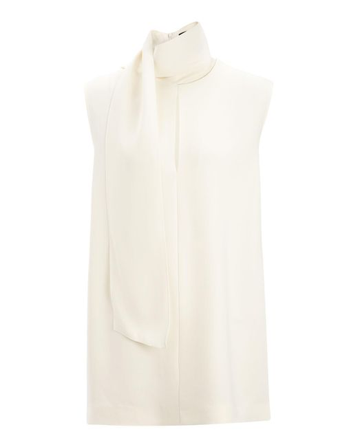 Joseph - White Viscose Cady Noon Blouse - Lyst