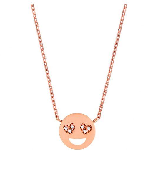 Estella Bartlett   Pink Heart Eyes Emoji Necklace   Lyst
