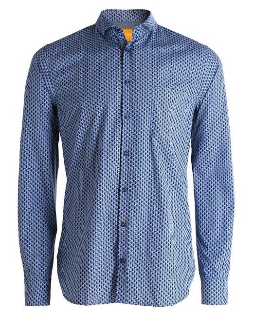 BOSS Orange   Blue Slim Fit Cattitude Creative Shirt for Men   Lyst