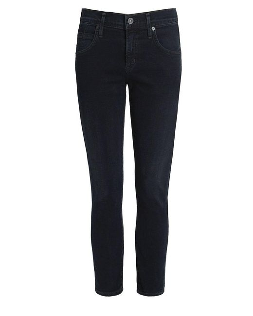 Citizens of Humanity - Black Elsa Mid Rise Cropped Jeans - Lyst