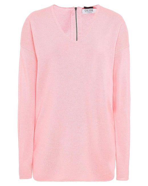 Cocoa Cashmere - Pink Cashmere V-neck Jumper - Lyst