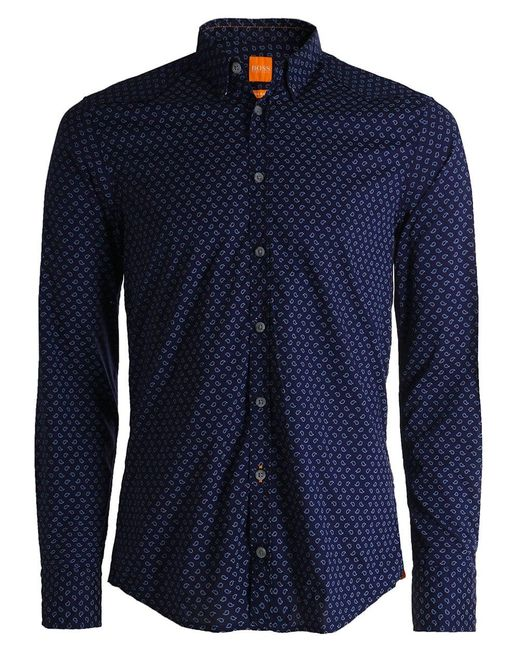 BOSS Orange | Blue Slim Fit Chill Paisley Shirt for Men | Lyst