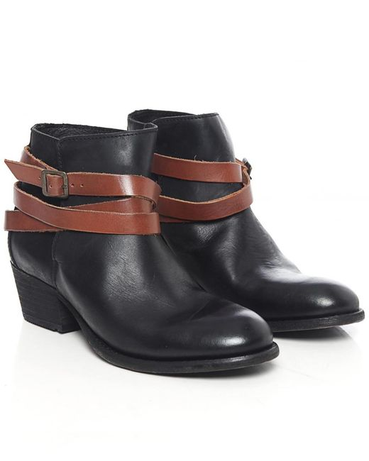 H by Hudson - Black Horrigan Calf Leather Boots - Lyst