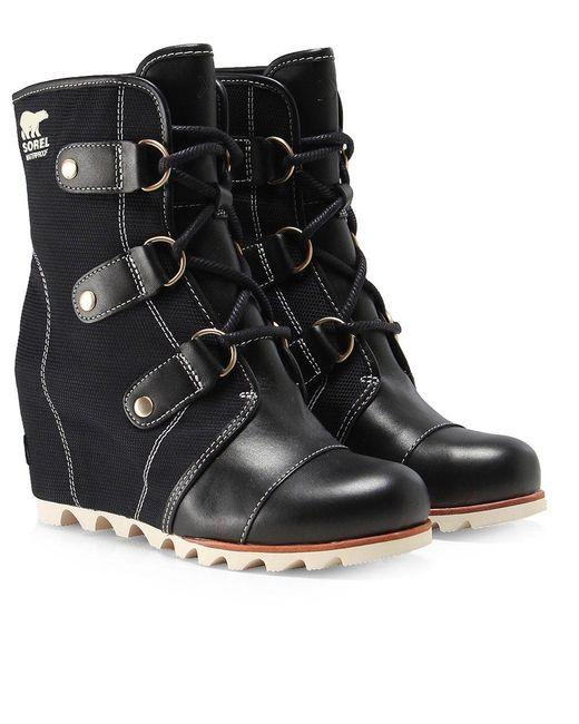 Sorel | Black Joan Of Arctic Wedge Boots | Lyst