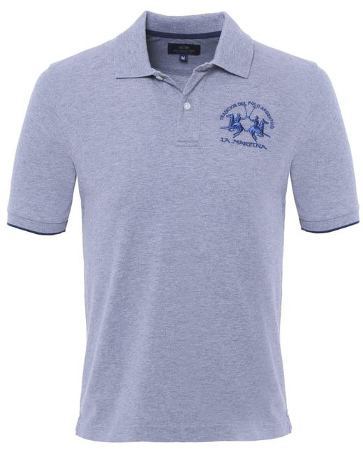 La Martina | Gray Plain Polo Shirt for Men | Lyst