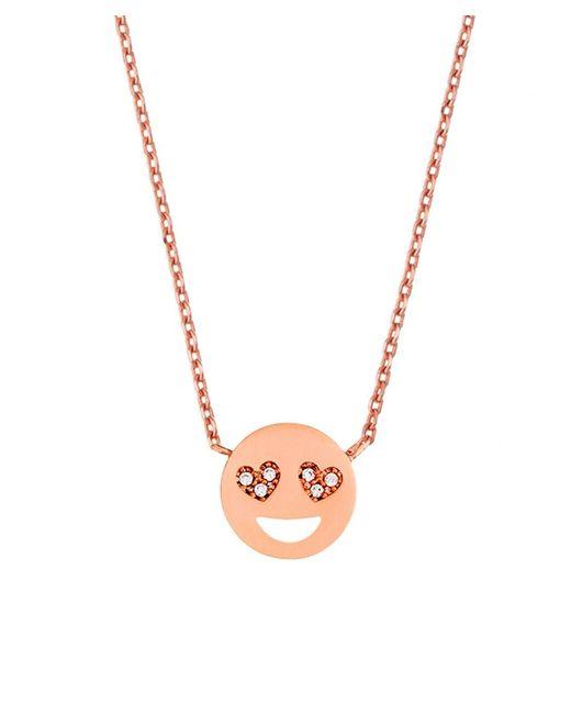 Estella Bartlett | Pink Heart Eyes Emoji Necklace | Lyst