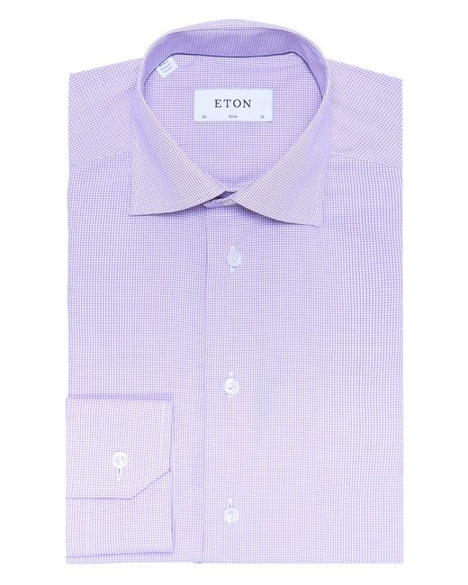 Eton Of Sweden Slim Fit Micro Check Shirt In Multicolor