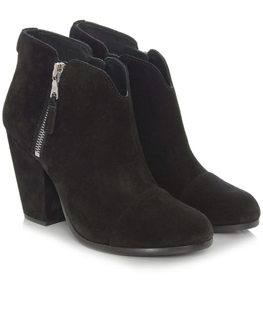 Rag & Bone | Black 'harrow' Leather Boot | Lyst