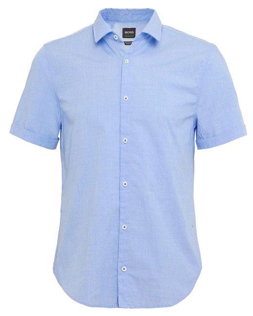 BOSS - Blue Regular Fit Short Sleeve Bowen_r Shirt for Men - Lyst