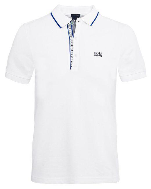 BOSS - Natural Slim Fit Paule 4 Polo Shirt for Men - Lyst