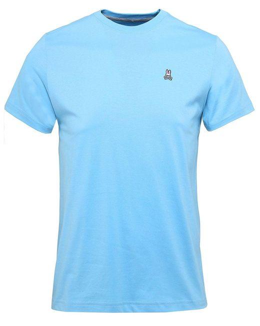 Psycho Bunny | Blue Crew Neck Logo T-shirt for Men | Lyst
